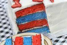 Patriotic Party and Food Ideas / Fun red white and blue patriotic food ideas, party supplies, crafts and more to help plan a patriotic party for Memorial Day or the 4th of July