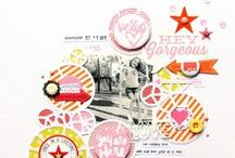 Scrapbook - circles / inspiration for designing scrapbook pages with circles