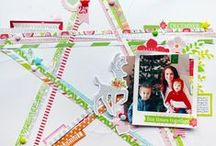 Scrapbook - strips / Inspiration for scrapbook page designs using paper strips