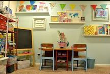 Home Learning Spaces / Amazing ideas for home study spaces. Get inspired to create your own homework station, homeschool room, or online school study space.  / by K12
