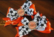 Soccer Hair / Bows, headbands and hairstyles for practices or games.