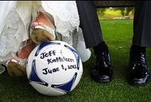 Pose / Check out these soccer poses to use for your senior pics, engagement photos or wedding shots!