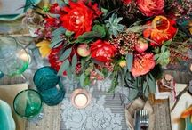 Y+M wedding / A wedding with vintage lace, books and music inspiration. With colours of rusty red, tangerine, teals and creams.  / by Dana Smyl Event Florist