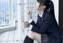 Kawai Girl Hight School UnifORM / This cute Girl Hight scHool Uniform Ever ever i saw on Pinterest