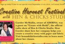 Creative Harvest Festival / Join us for the ultimate creative experience September 21-24, 2016, in Conrad, Iowa. We are hosting wonderful teachers on a variety of classes, including Jo Packham of Where Women Create, Carolee McMullin of ADORNit, and many more