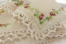 LINENS AND LACE / Pinterest has me sewing lace on everything... / by Mary Charest