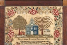 ANTIQUE SAMPLERS / Love the intricate design and painstaking care with which children produced this kind of art.