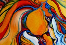 Horses of a different COLOR / Different coloring schemes for the same or similar images.  Used a horse board pic so I could find it easier (love horses also). / by Sarah Caudill