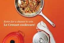 Cookware Giveaway! / We're launching our cookware sweepstake and we thought we'd celebrate the brand that's supplying the prize package: Le Creuset! Enter for a chance to win here: http://promo.cookstr.com/cookware-giveaway / by Cookstr