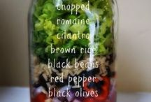 IF IT'S SALAD / All about salads.  Salads in a jar, salads in a bowl, salad dressings.
