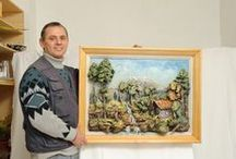 Adamart Paintings - Bas Relief Oil Paintings / Discover amazing artworks by Romanian painter Adam. He's creating a unique kind of 3D art form, combining bas-relief art with traditional oil painting on canvas.