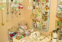 Craft Room and General Organization / I am so totally not organized! But I love all organizers and seem to collect them. I do love sorting and organizing all the little bits and bobs I collect. But overall not so good at the real organizing! / by Sue Jensen Brown