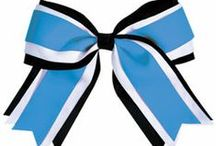 Cheerleading Hair Bows / Add a matching accent to your cheerleading uniform to complete your team's look! / by Omni Cheer