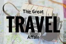 """The Great Affair / """"For my part, I travel not to go anywhere, but to go. I travel for travel's sake. The great affair is to move."""" – Robert Louis Stevenson / by Angie Away 