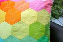 Sewing projects with hexagons