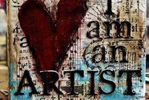 {Art: Mixed Media} / mixed media art, etc. / by Chantel C.