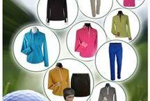 Publicités pour la marque de vêtements féminins de Golf Céline & Roland / publicités marque Céline & Roland - Golf pour Elle