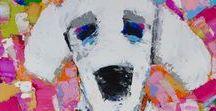Michelle Rivera Original Art / My dog paintings -originals and canvas prints