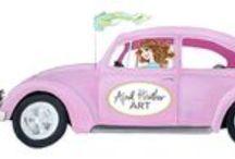 pretty in pink / by April Heather Davulcu  /  April Heather Art