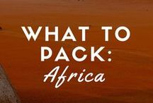 What to Pack – Africa / Mr. Harper's Suitcase, Africa.  / by Andrew Harper Travel