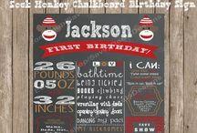 Chalkboard Birthday Signs / Custom Chalkboard Birthday Signs