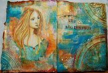 Art Journal Ideas / Inspiration for creating beautiful Art Journals