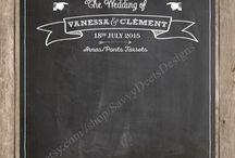 Chalkboard Wedding Printables / Printable Chalkboard Wedding signs: Programs, Cocktail Sign, Dinner Menu, Love Story, Photo Backdrop
