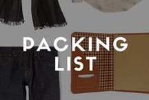 Packing List / We've collected our packing lists, packing tips and packing recommendations from across AndrewHarper.com for destinations across the world. From Mexico to Paris to the Hudson Valley, enjoy our suggestions for your next vacation. / by Andrew Harper Travel
