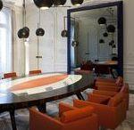 Bureaux, Siège Sociaux, Head Office XAR HOLDING   Made by James / Table de conseil & bureau d'accueil made by James  @lamaisonjames