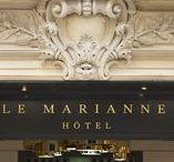 Hôtel, Hotel de Luxe Le Marianne PARIS   Made by James / Hôtel, Hotel de Luxe Le Marianne PARIS   Made by James Agencement made by La Maison James #design #deco #retails #cabinetmaker #interior #paris #wood @lamaisonjames