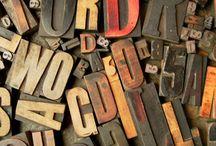 alphabet soup / typography~ big & small