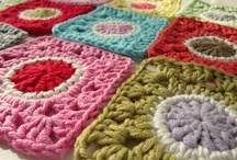 Crochet squares and circles