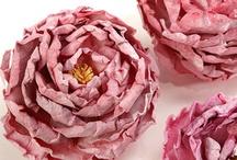Flowers - Paper, Fabric, Zipper, etc