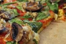Food- Healthy Entrees, Lunch / Quiches are on this board. Lots of unusual pizza crust recipes: cauliflower, sweet potato, coconut flour, etc for paleo diet.