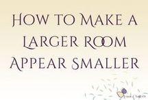 Make a Larger Room Appear Smaller by Louisa Charlotte / It's easy to long for more space when you have very little, but larger rooms present many challenges of their own. High ceilings, large windows, dark lonely corners or just simply too much space... here are my favourite interior tips to help you create the perfect space! - Louisa Charlotte