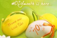 #DIYmonth Is Back For The Season of Transformation / Walls and Floors are celebrating #DIYmonth this April - Starting with our Easter Sale there are already great discounts of up to 70% across our tile collections. Look out for more offers, surprise sales, extra discounts and competitions - follow us on Twitter to keep up with the latest news!