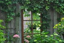 Through the looking glass / mirrors in the garden