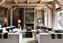 CABIN / A rustic but stylish, log cabin in the mountains.
