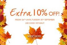 Up To 70% Off This Autumn - Extra 15% off Our Choice! / The summer has come to an end making way for Autumn. Walls and Floors have up to 70% off tiles this season.