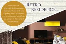 Retro Residence / Dated decor is where it's at this season, make your home both chic and groovy with a modernistic touch - remember, sometimes less is more in the world of interior design...