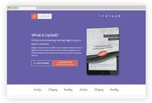 Ebook Landing Page Template / UpSell is a premium Landing Page Template specially designed to help you sell your ebook! Available on Themeforest.net / by Pixelosaur