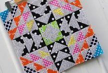 Text Me Mini Quilt Inspiration #textmeminiquiltswap / Pattern and Fabric Inspiration for #textmeminiquiltswap on Instagram
