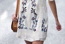 Spring & Summer Style 2017 / It's Spring here in Australia but it is already feeling like Summer. A collection of floral maxi dresses, sundresses, strappy sandals and beach totes. Inspired by social gatherings, picnics, and the Spring fresh air and sunshine. dresses, floral, botanical, feminine, bohemian, boho chic, fashion, style