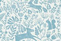 Woodland Animals | Fox Rabbit Deer Bear / Forest animals in logos, branding, design resources, illustrations, patterns etc. deer, foxes, bears, rabbits, squirrels, woodland, nature, woods, watercolour, Scandinavian, European