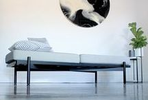 Monochrome Home / Black and white minimalist home decor, styling and furniture.
