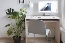 home office / workspace inspiration: desks by the window.  in collaboration with Hillarys.