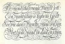 lettering : Pointed Pen / handlettering, calligraphy, pointed pen