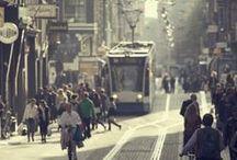 Moodboard eindopdracht stadsleven / Een dag stadsleven in Amsterdam