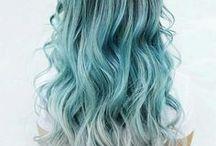 mermaid hair inspo. / Fun hair colors, Gray hair, Grey hair, Green hair, Silver hair, Pink hair, Rose gold hair, Blue hair, Turquoise green hair, Mermaid Hair.