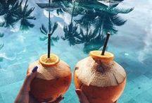 summer vacation destinations. / summer vacation inspiration and resortwear ideas.